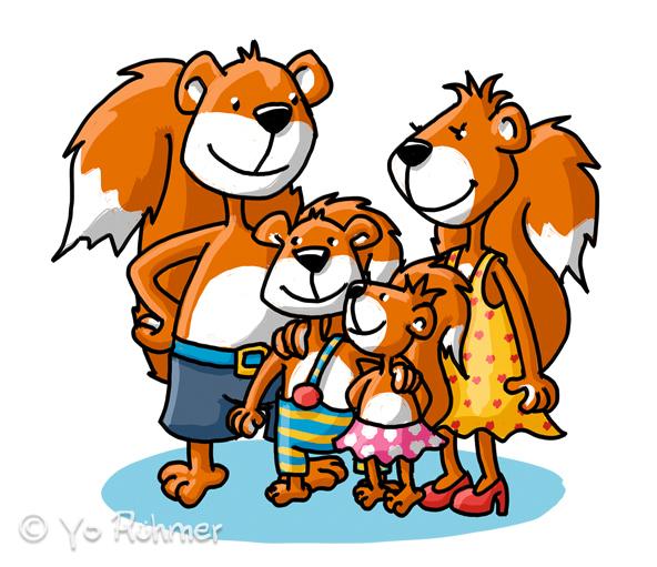 Eichhörnchen_Familie