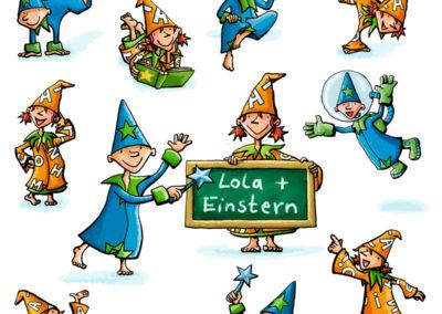 Einstern+Lola_Schulbuchillustration