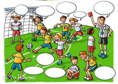 Fußballspiel_Schulbuchillustration