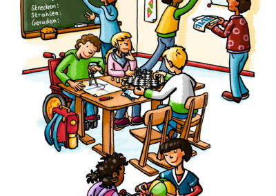 Klassenzimmer1_Schulbuchillustration