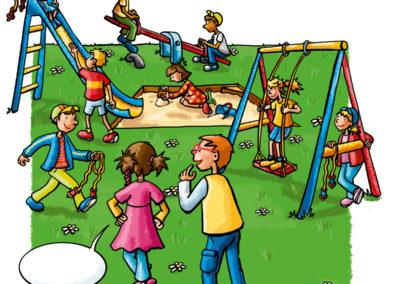 Schulbuchillustration_Spielplatz