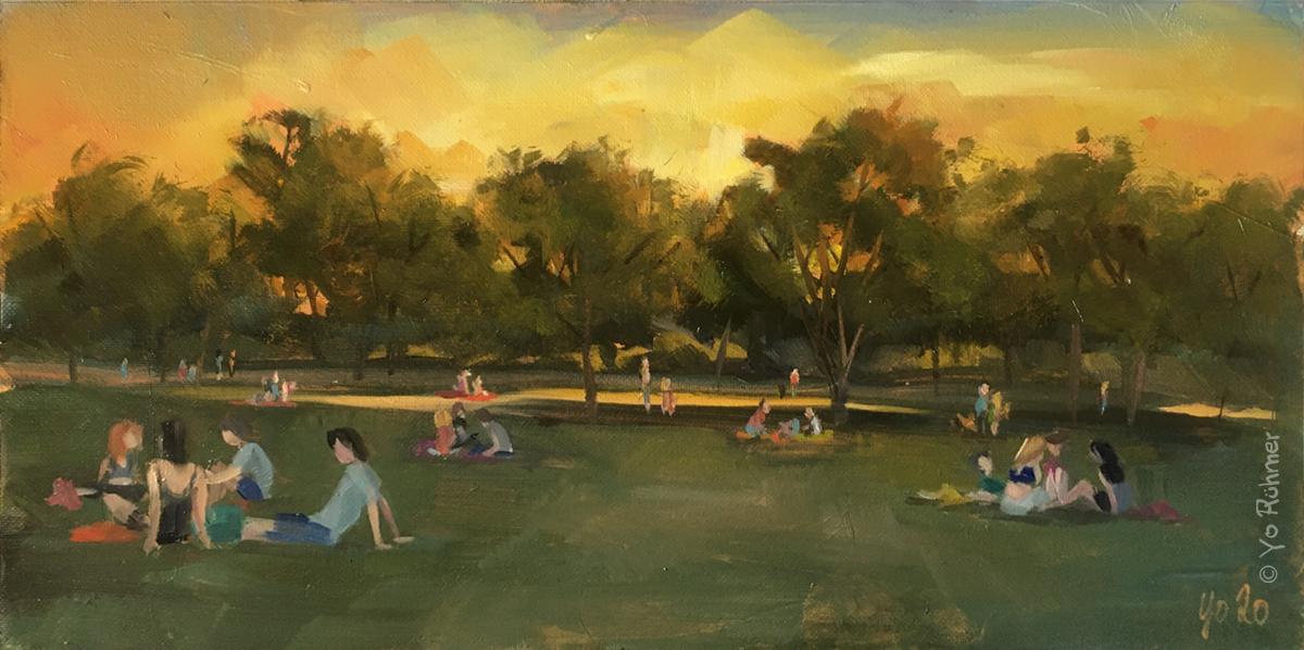 Gunethersburgpark_gemalt, Ölbild