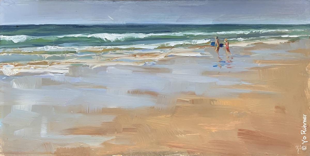 Strand Ölbild