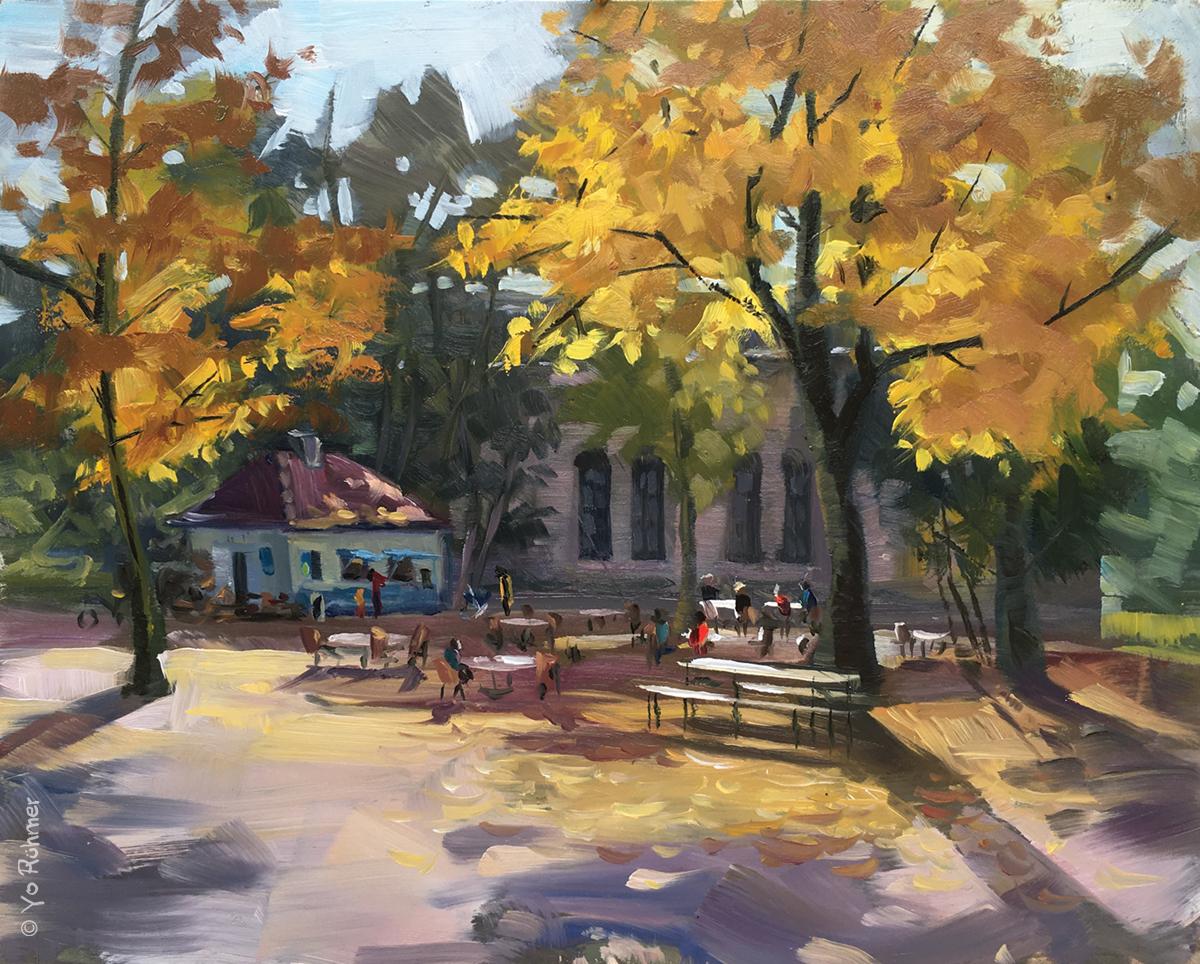 Herbst Ölbild