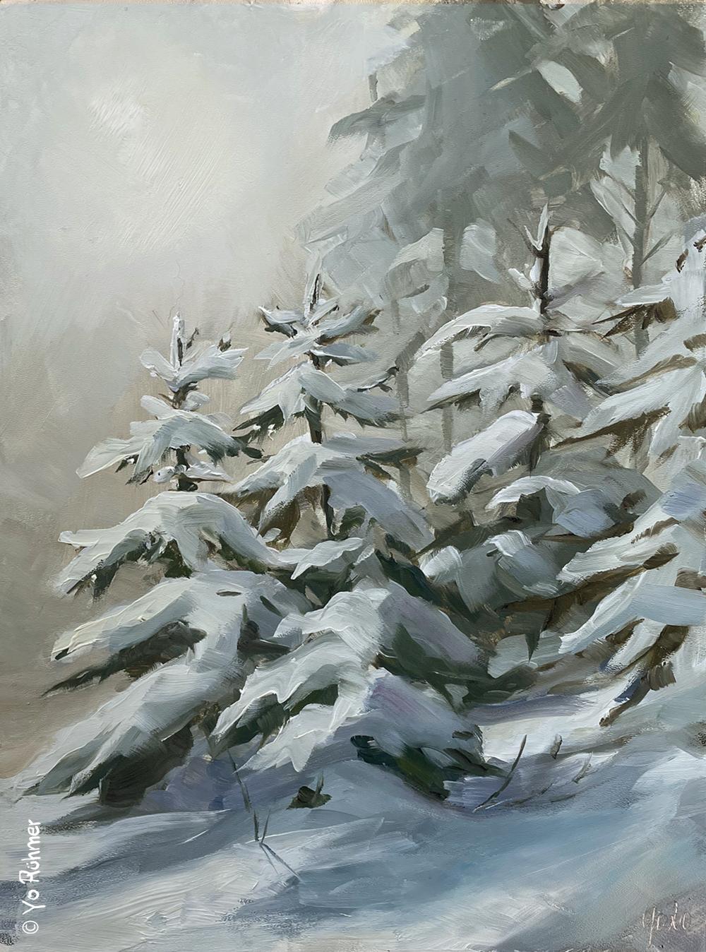 Schneeölbild