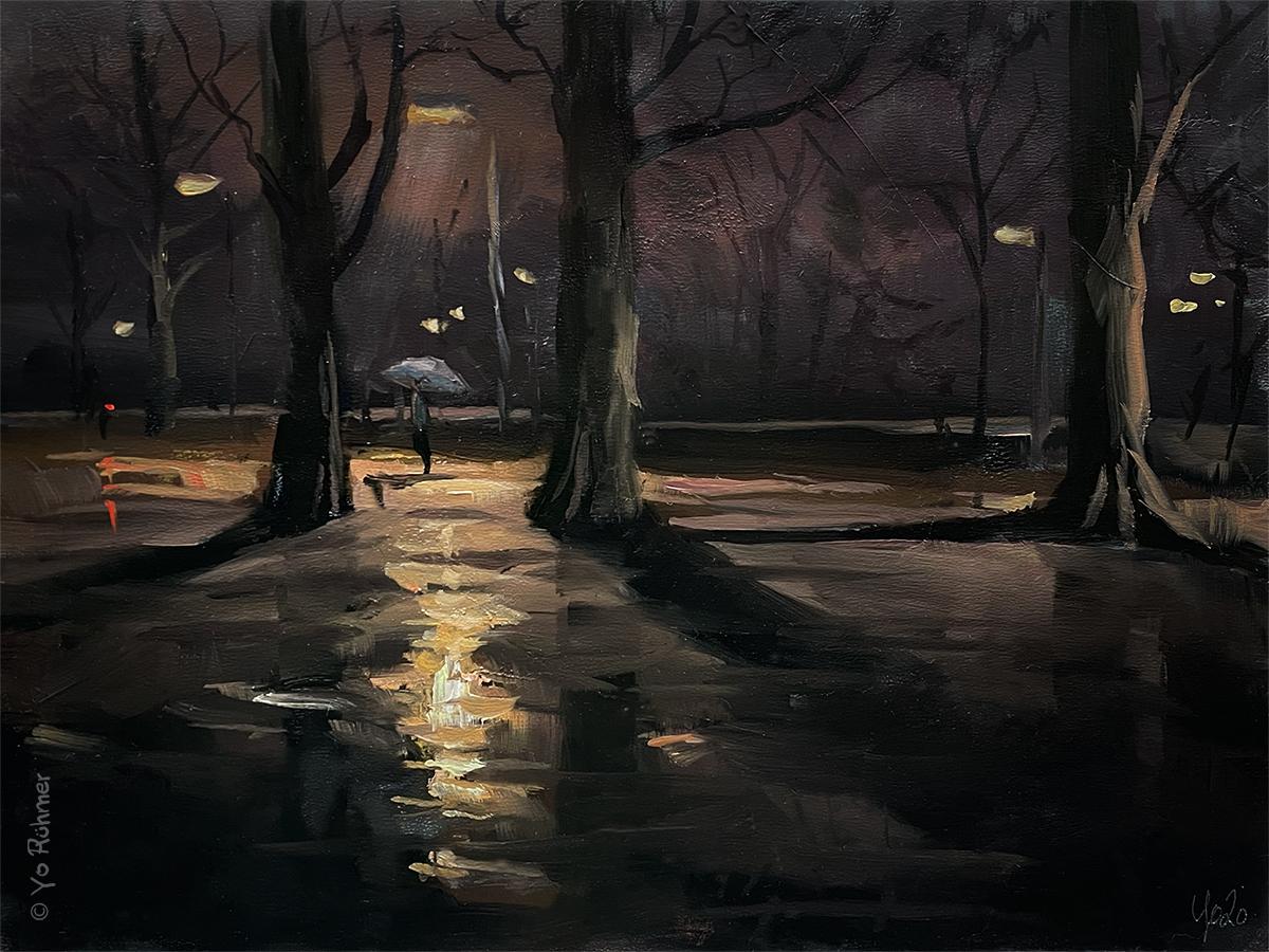 Nocturne Ölbild