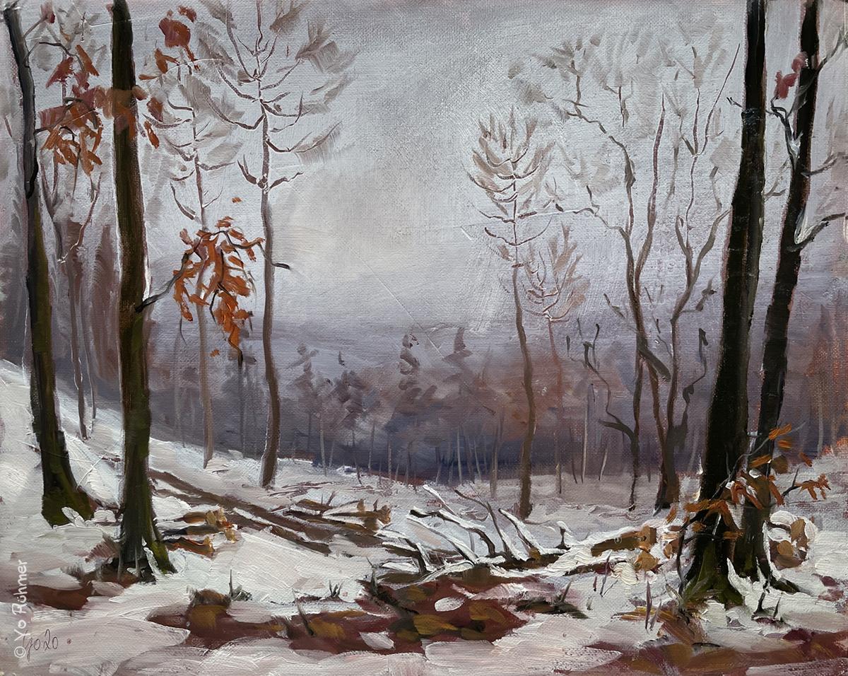 Taunus_Schnee-Ölbild