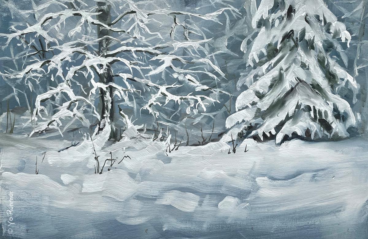 Schnee_Ölbild