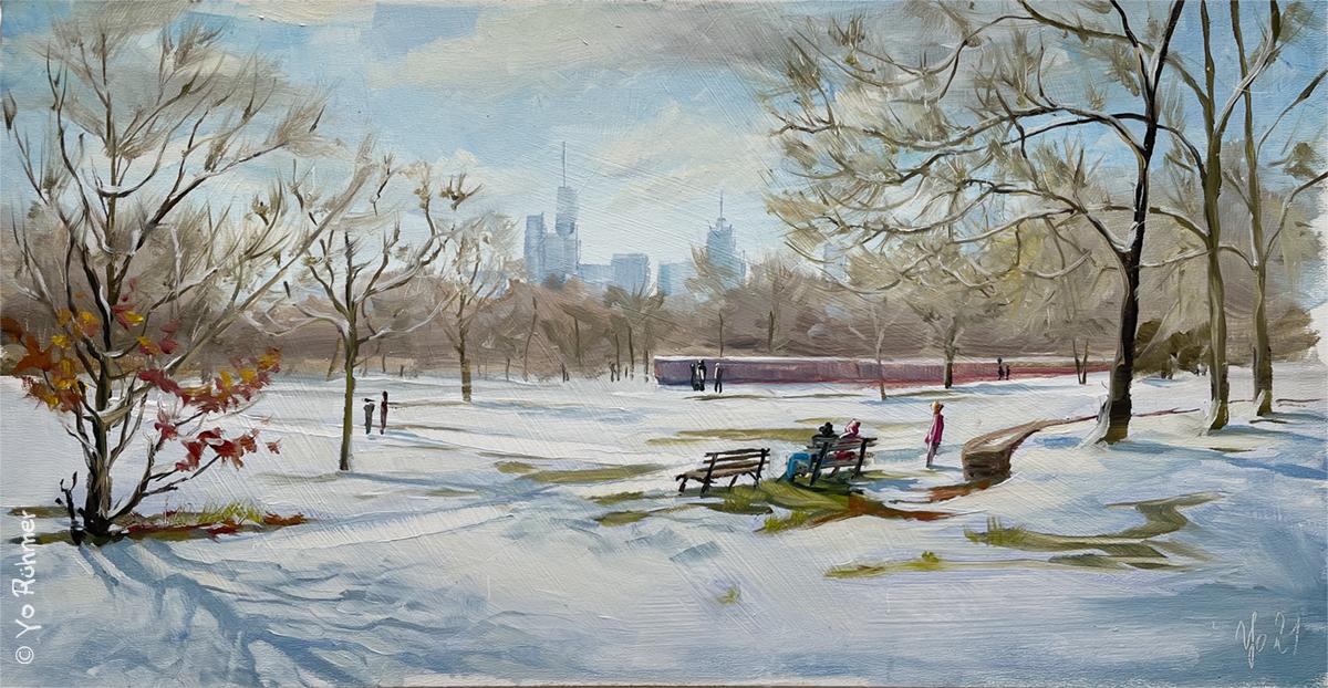 Schnee_Pleinairmalerei