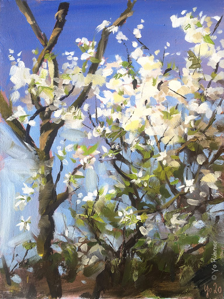 frühlingsblüten Ölbild