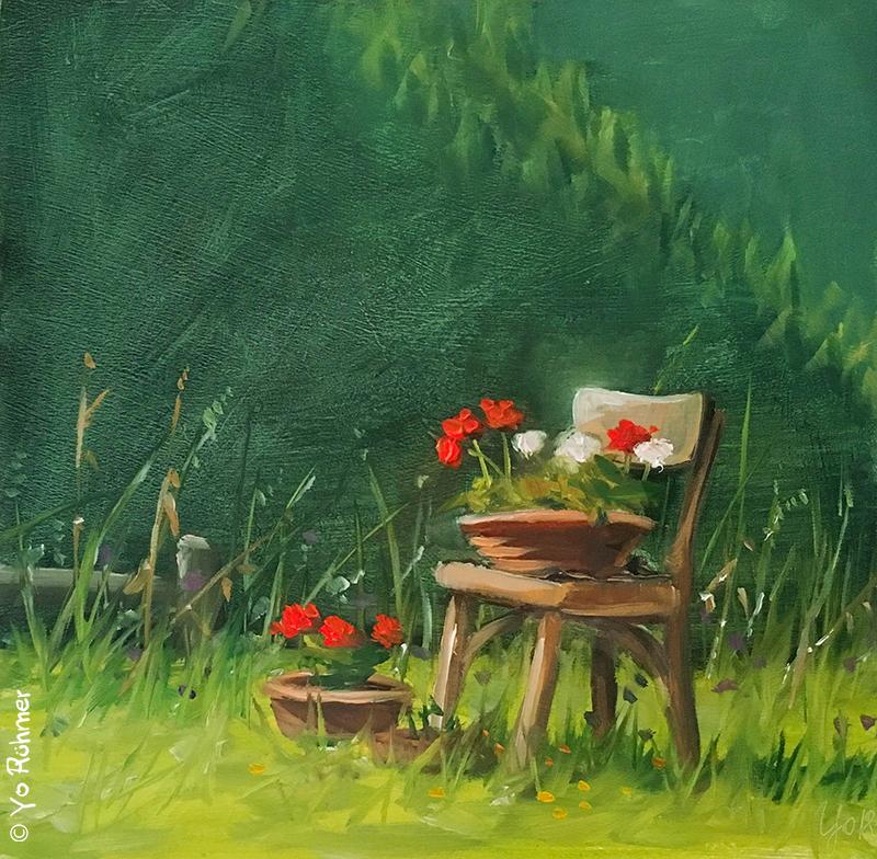 geranien gemalt
