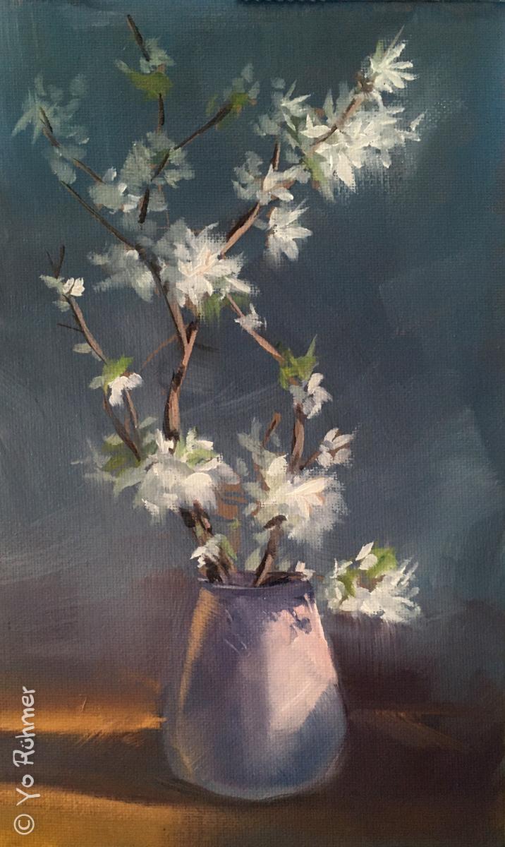 kirschblüten Ölbild
