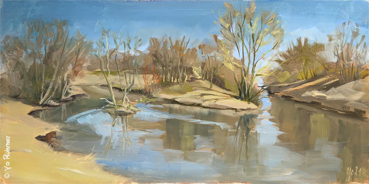 Nidda Ölbild Pleinairmalerei