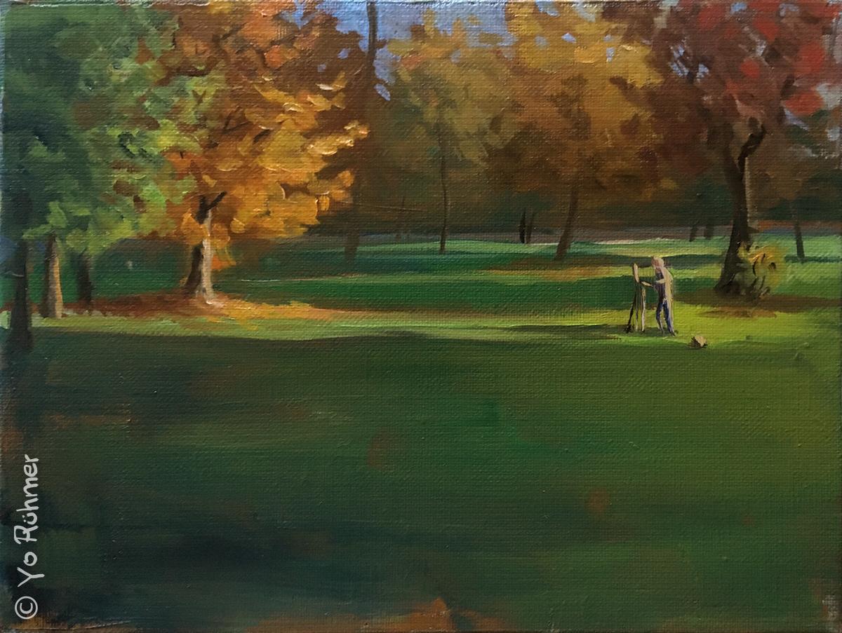 Pleinairmaler Ölbild