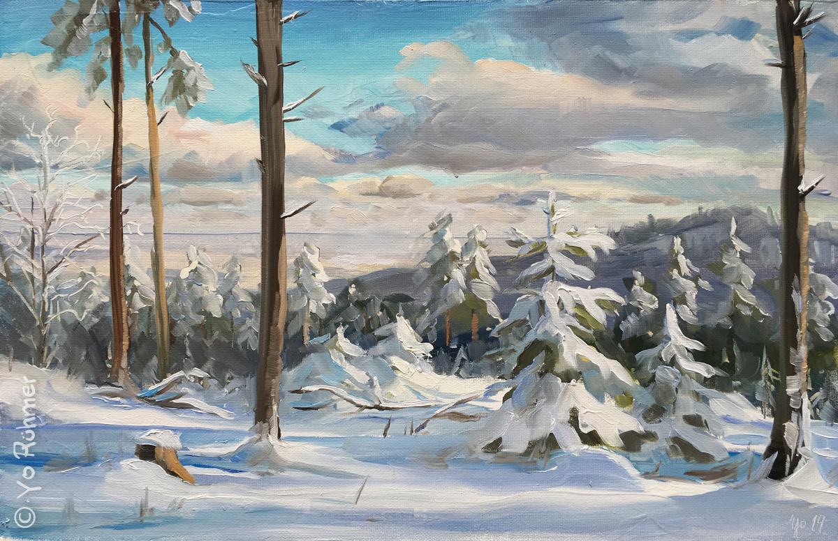 schnee pleinairmlaerei