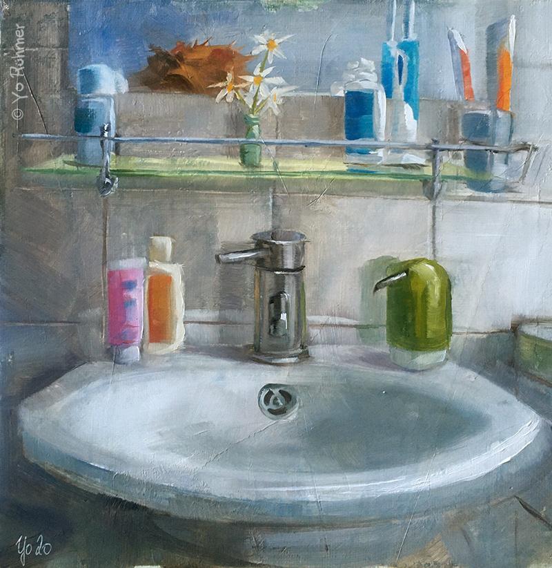 waschbecken gemalt